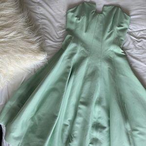 Halston Heritage Tea Length Green Dress NWT